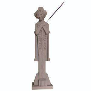 """Vintage 11"""" Figural Geisha Statue Incense Holder"""
